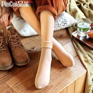 秋冬季中筒長筒雪地襪
