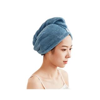 稻草人纯色干发帽2条