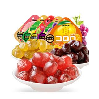 悠哈果汁軟糖果qq糖52g*3