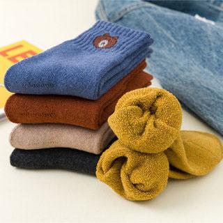 抗寒保暖中筒毛圈襪5雙