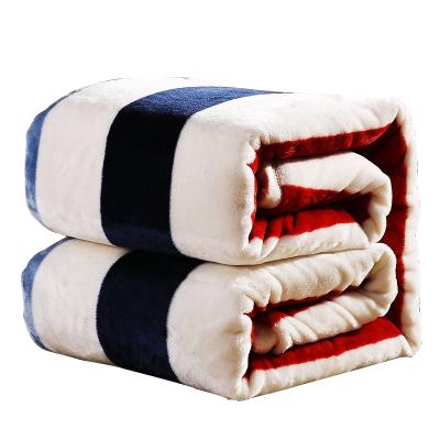 加厚冬季單雙人法蘭絨毯