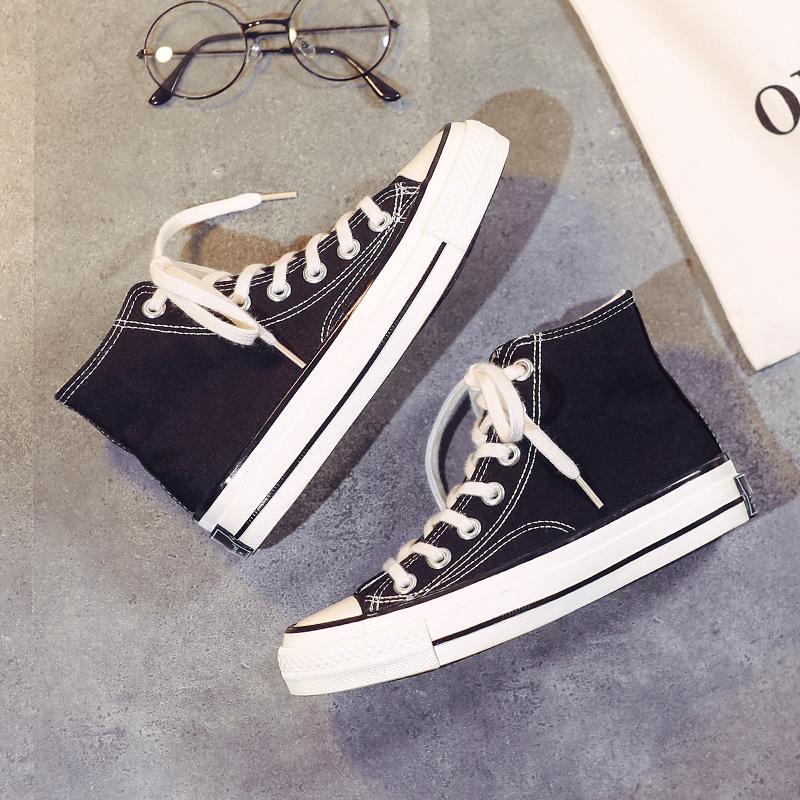 新款韩版学生百搭港风板鞋