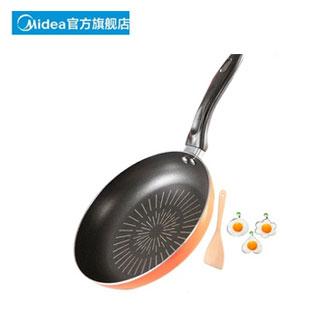 美的麦饭石通用平底煎锅
