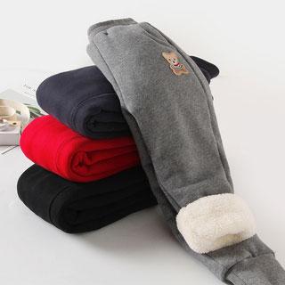 加绒加厚保暖羊羔绒棉裤