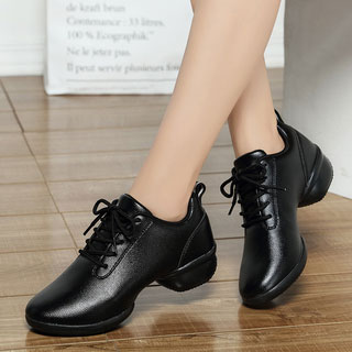 舞鞋真皮白色軟底運動鞋