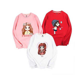 兒童韓版純棉長袖t恤