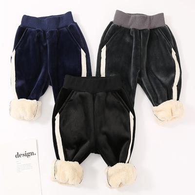 兒童加絨加厚保暖棉褲