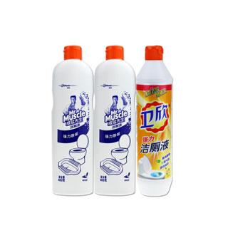 潔廁液3瓶清潔劑1460g
