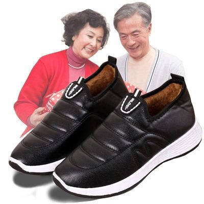 老北京加绒防滑妈妈棉鞋
