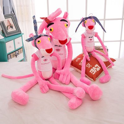 粉红豹毛绒玩具公仔