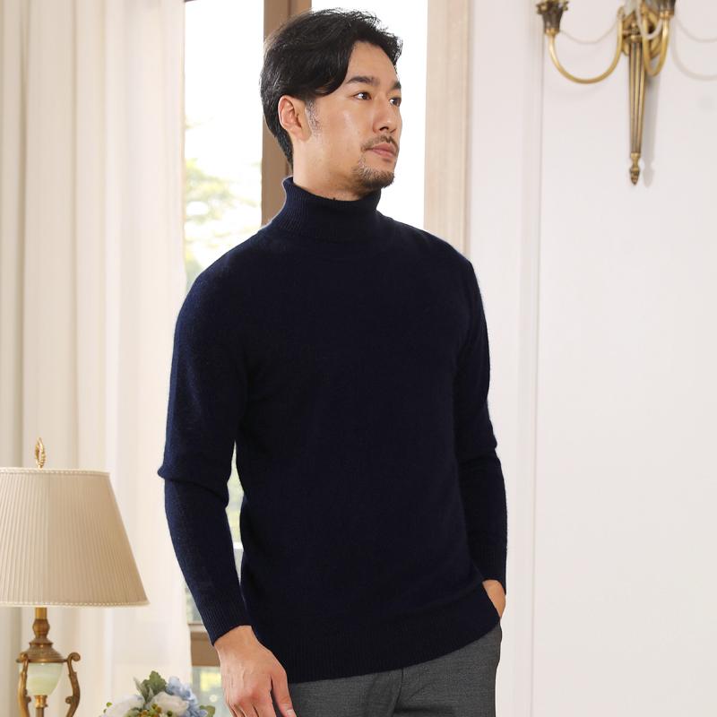 男高領秋冬款針織衫毛衣
