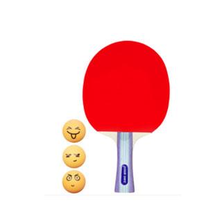 紅雙喜乒乓球拍直拍