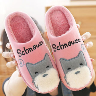冬季防滑厚底棉拖鞋