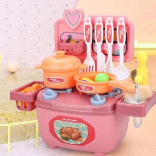 過家家廚房仿真玩具26件套