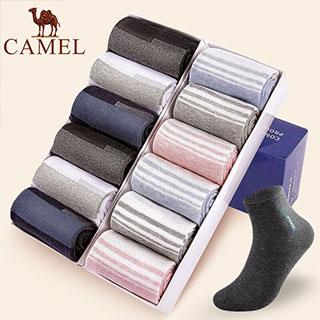 骆驼男女中筒袜6双装