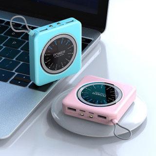 20000毫安超薄鐘表充電寶