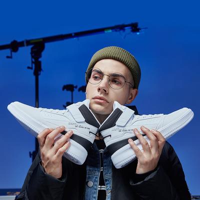 361加絨小白鞋高幫板鞋