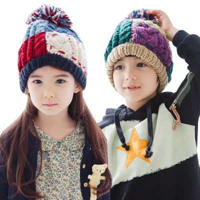 兒童大毛球毛線帽