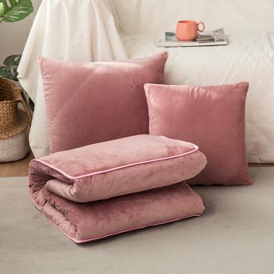 加厚抱枕被子两用毯