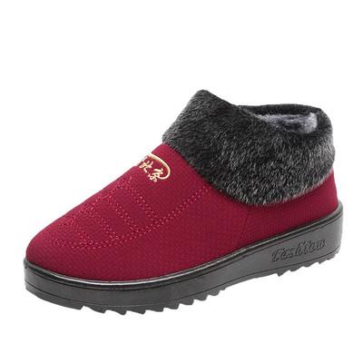 老年老人老北京棉鞋
