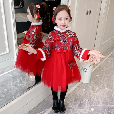 加厚儿童旗袍拜年服
