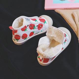 兒童加厚加絨帆布棉鞋