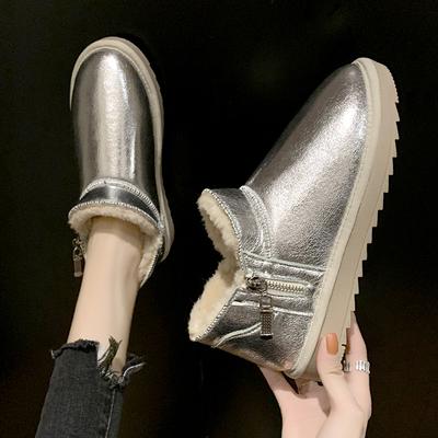 女冬加絨保暖雪地靴