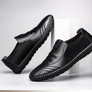 寶人真皮加絨商務鞋