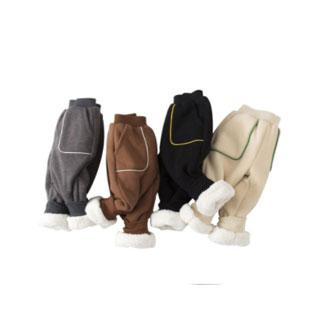 兒童保暖棉加絨褲子