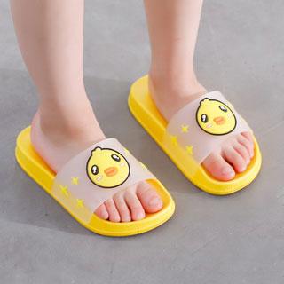 小黃鴨夏季兒童洗澡拖鞋