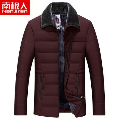 南極人加厚翻領修身外套