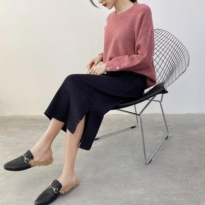 加厚針織毛線裙半身裙