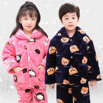 法兰绒儿童睡衣家居服