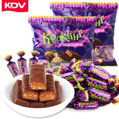 俄罗斯紫皮糖零食500g