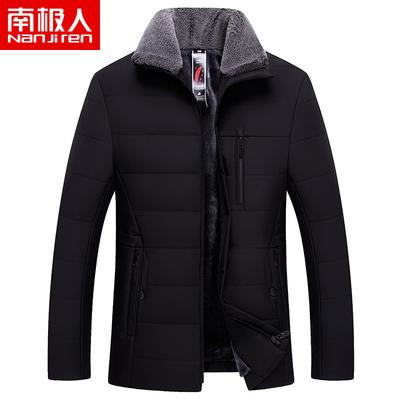 南極人加絨加厚棉服外套