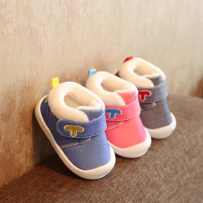 軟底學步鞋加絨棉鞋