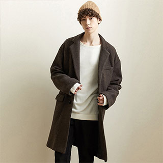 美特斯邦威羊毛呢子大衣外套