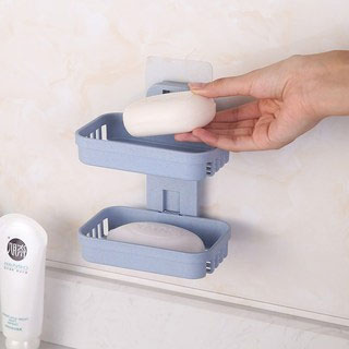 免打孔沥水肥皂盒2个