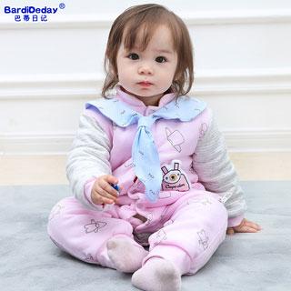 加厚新生婴儿夹棉衣服