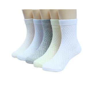 儿童春秋纯棉袜5双