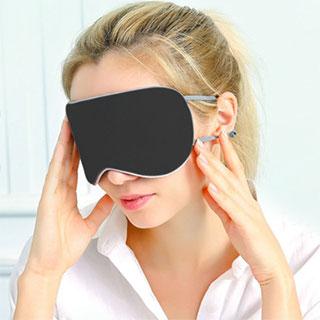 挂耳式双面真丝眼罩