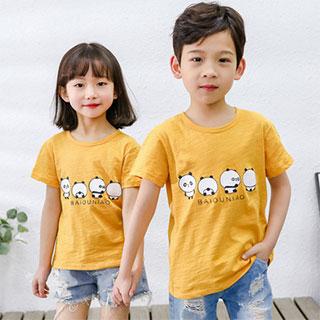 拍2竹节棉儿童短袖T恤