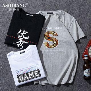 日系潮牌ins纯棉短袖T恤