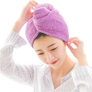 潔麗雅干發帽2條