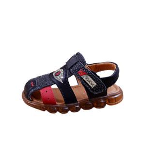 巴布豆真皮包头凉鞋