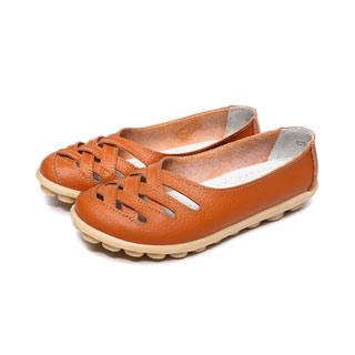 仙女休闲鞋真皮豆豆鞋