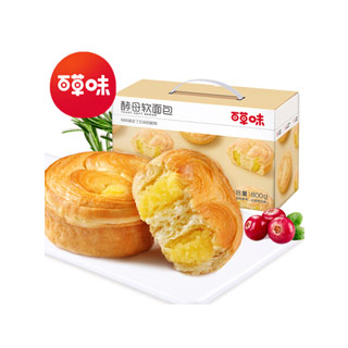 百草味手撕酵母软面包800g
