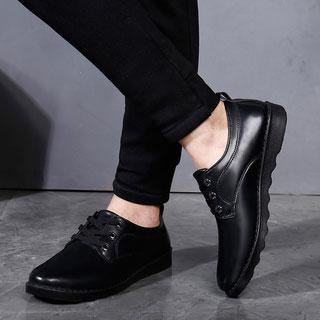 透气增高皮鞋商务黑色小皮鞋