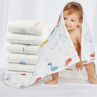 宝宝浴巾纯棉纱布毛巾被子