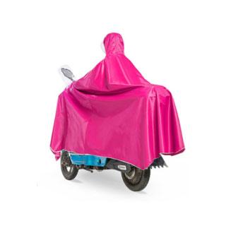 三层帽檐大面罩电动车雨披